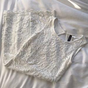 🌹 WHITE LACE BODYCON DRESS 🌹